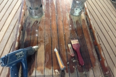 Classic Boat Project - stripping back